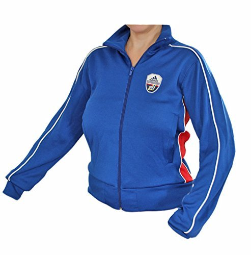 Adidas Linear Track Top Jacke Sportjacke Damen blau-rot NEU Hooded Track Top