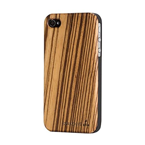 Snakehive® Apple iPhone 4 / 4S Wooden Back Case Cover