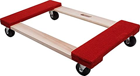 Move-It 9850 Carpeted Solid Wood Moving Dolly, 20-Inch x 31-Inch, 840-lb Load Capacity