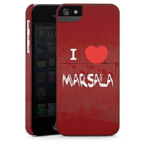 Apple iPhone X Silikon Hülle Case Schutzhülle I love Marsala Herz Spruch Premium Case StandUp