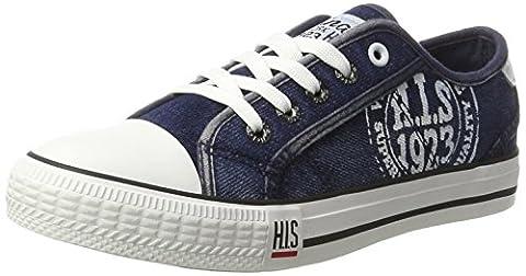 H.I.S Damen 151-020 Sneakers, Blau (Navy Washed Jeans), 37 EU