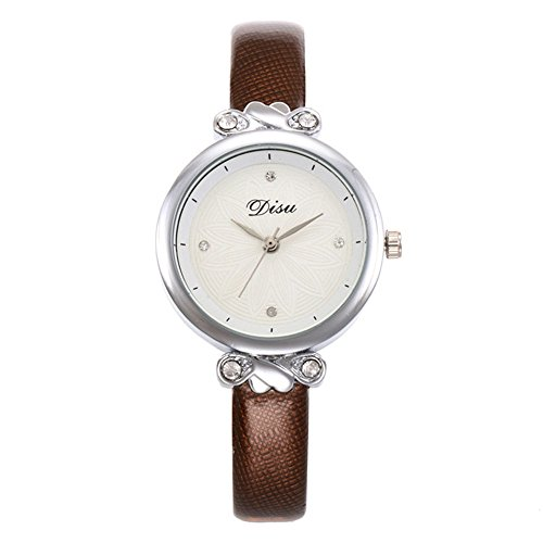 Unisex Armbanduhr Damen-Uhr Herren-Uhr, Armbanduhr Trend-Uhr Blogger-Uhr, analog, Quarzwerk, Elegantes Marmor-Design, Armband aus Kunst-Leder oder Metall H (Womens-business-watch-designer)