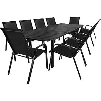 Gartentisch ausziehbar polywood  Amazon.de: 11tlg. Gartengarnitur Aluminium Gartentisch ausziehbar ...