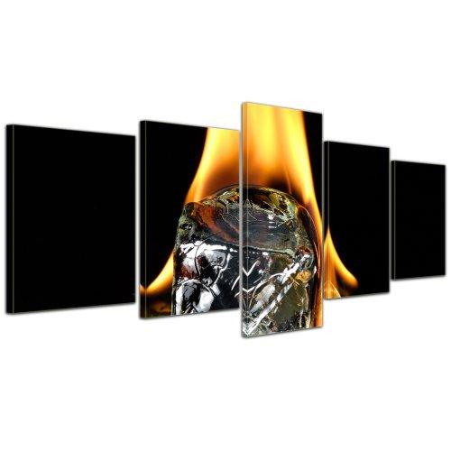 bilderdepot24-cuadros-en-lienzo-hielo-ardiente-200x80-cm-5-piezas-enmarcado-listo-bastidor-imagen-di