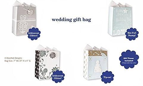 Wedding Gift Bags Set of 4 Large Wedding Gift Bags
