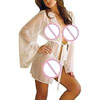 Damen Reizwäsche Elastische Spitzen Unterwäsche mit Strumpfhaltergürtel-Dessous in Übergröße Lace Sleepwear Gürtel... preisvergleich bei billige-tabletten.eu