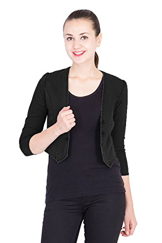 Westa Clothing Denim Shrugs for Women Dust Black Large