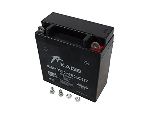 GEL-Batterie KAGE YB5L-B 5.5AH für Hercules Honda Kymco Malaguti MZ/MUZ Peugeot Piaggio Puch Royal Enfield Sachs Simson Suzuki Vespa Yamaha