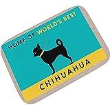 Gnzoe Flanell Teppich Tier Hund Muster Design Teppiche für Wohnzimmer Küche Bunt 60x90CM