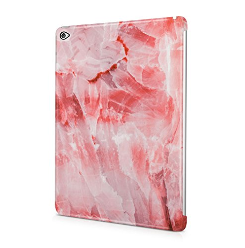 Rough Rose Quartz Marble Stone Print Apple iPad Air 2 SnapOn Hard Plastic Tablet Protective Case