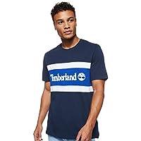 TIMBERLAND Men's C&S Colorblock T-Shirt, Multicolour (Drk Sapphire/Surf The Web), Large