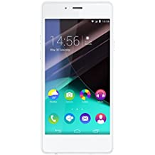 "Wiko Highway Pure - Terminal libre de 4.8"" (LTE, WiFi, Bluetooth, Snapdragon 410 MSM8916 Quad Core 1.2 GHz, Cortex-A53, 2 GB de RAM, Android 4.4.4 KitKat) color blanco y plata"