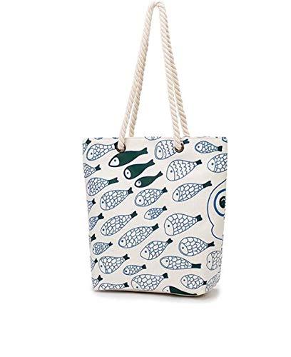 Seba5 Home Weibliche Leinwand Umhängetasche Datei Shopping Strand Handtasche umweltfreundliche Tasche (Umhängetasche-datei)