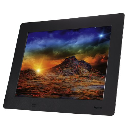 Hama 95279 Slimline Basic Digitaler Bilderrahmen (24,6 cm (9,7 Zoll), SD/SDHC/MMC-Kartenslot, USB 2.0) schwarz