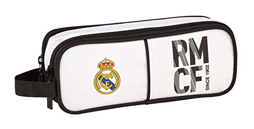 Real Madrid 811854513 2018 Estuches, 21 cm, Blanco