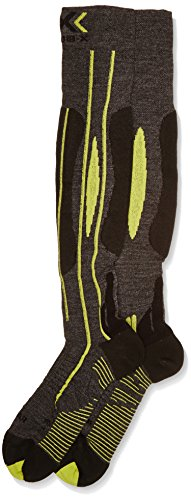 X-Socks Funktionssocken Effektor Ski Race Man, Grey/Black/Lime, 42/44, S100012 (Ski Socke Race)