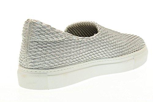 FRAU scarpe donna sneakers basse senza lacci 40C0 ARGENTO Argento