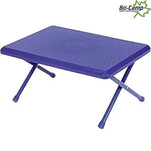 Mini table de camping pliable avec armature en métal, plates, 52 x 37 x 22 cm (bleu// petite table pliable de camping/d'appoint pliable de jardin table pique-nique