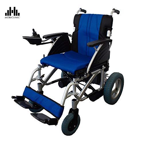 Silla de ruedas eléctrica | De acero, en color azul y negro y asiento regulable | Mod. Lyra | Mobiclinic