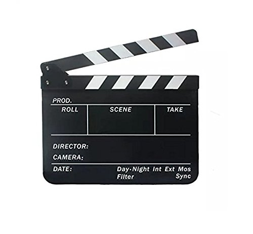 yeah67886 Acryl Film Movie Action Szene Schiefer Clap Klappen (schwarz)