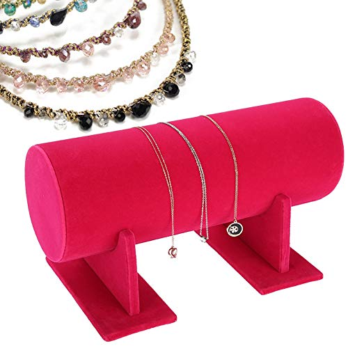 Display Storage Stand agrémenter Floral Jewelry Holder accessoire pour cheveux accessoire de démonstration Rouge rose