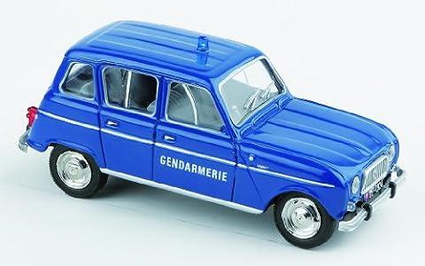 Solido- 421435180- Véhicule Miniature, Renault 4 L Gendarmerie de 1964, Echelle 1/43
