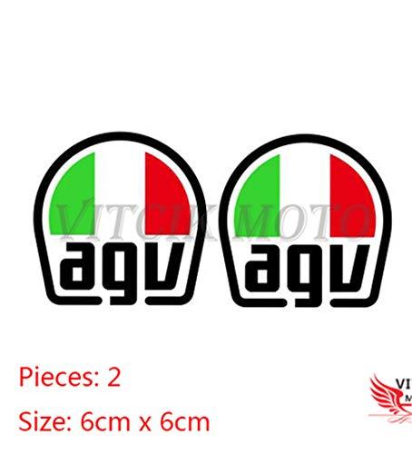 VITCIK Decalcomanie adesive per casco da moto per moto da corsa decalcomanie in vinile con logo (AGV)