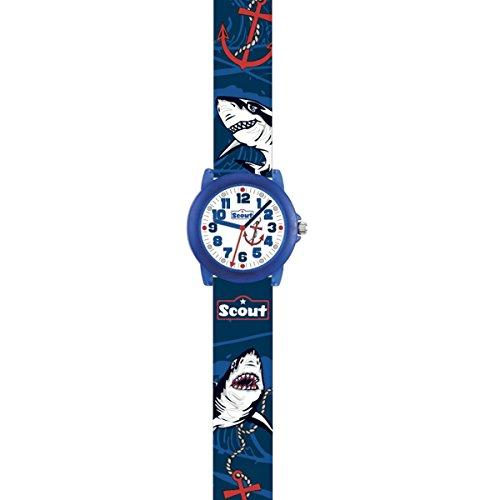 SCOUT Jungen Analog Quarz Uhr mit PU Armband 280305032