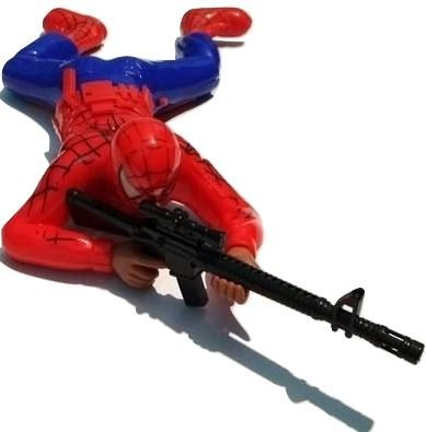 Sshakuntlay® Spiderman Crawling Action Toy Gift Pack with Lights and Sound - Crawls with Gun and Shooting Sound (Pack of 1)