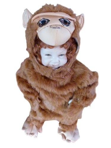 Affen-Kostüm, Zo12 Gr. 74-80, für Klein-Kinder, Babies, Affen-Kostüme Affe Kinder-Kostüme Fasching Karneval, Kleinkinder-Karnevalskostüme, Kinder-Faschingskostüme, ()