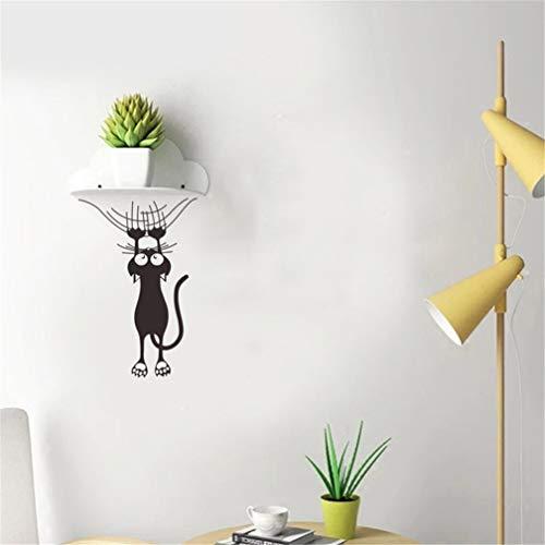 EWQHD 2St Cartoon Katze Kletterwand Rand-Wand-Aufkleber Hauptdekoration Für Kinder Zimmer Wandkunst-Abziehbilder Tiere Türaufkleber Tapete