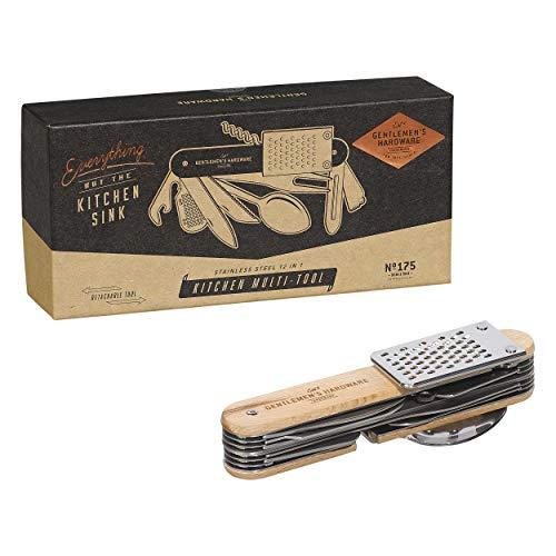 Gentlemen's matériel de Cuisine Outil Multifonction, Argent