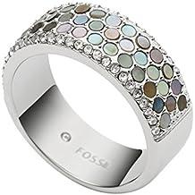 Fossil–Anillo de mujer acero inoxidable plata jf02313040503–50