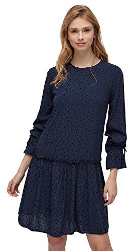 TOM TAILOR DENIM für Frauen Kleider & Jumpsuits gepunktetes Kleid white1 XL