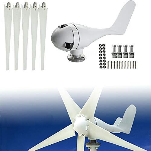 YiWon Mini 24V Windgenerator, 400W Wind Turbine Generator mit 5 Blades 1,4 m Durchmesser Windkraftanlage Wind Power System - Mini-power-generator
