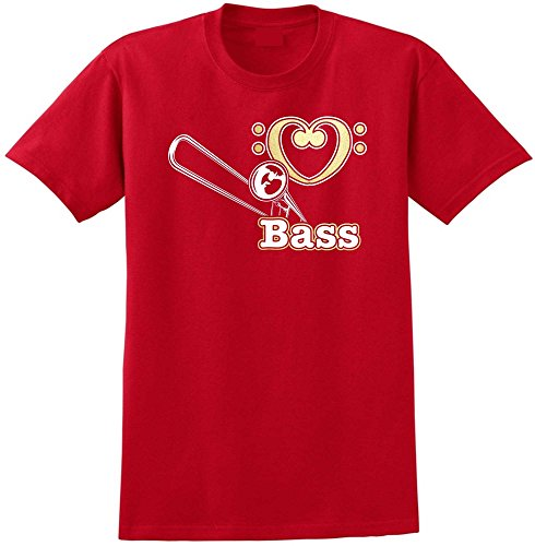 Trombone Love Bass - Red Rot T Shirt Größe 87cm 36in Small MusicaliTee