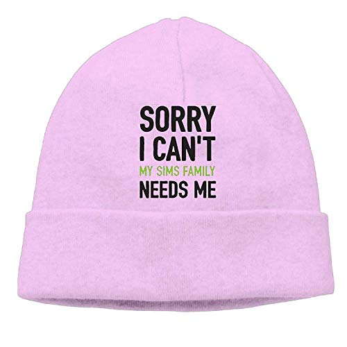 Preisvergleich Produktbild Sorry I Canâ€t My Sims Family Needs Me New Winter Hats Knitted Twist Cap Thick Beanie Hat Pink