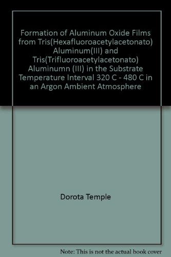 Formation of Aluminum Oxide Films from Tris(Hexafluoroacetylacetonato) Aluminum(III) and Tris(Trifluoroacetylacetonato) Aluminumn (III) in the Substrate Temperature Interval 320 C - 480 C in an Argon Ambient Atmosphere