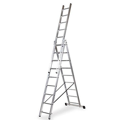 Escalera Profesional de Aluminio Triple Tijera con Tramo Extensible (2.5+2.5+2.5 mts). Escada Tripla (2.5+2.5+2.5 mts)