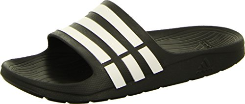 adidas Herren Badesandale Sandalen Badelatschen Badeschuhe DURAMO SLIDE schwarz, Größe:UK 12 (47 1/3)