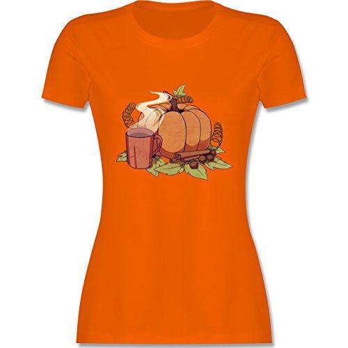 Statement Shirts - Pumpkin Spice - tailliertes Premium T-Shirt mit Rundhalsausschnitt für Damen Orange