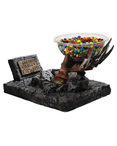 Horror-Shop Lizenzierter Freddy Krueger Hand Süßigkeiten Halter (Halloween Süßigkeiten Halter)