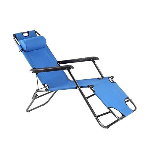 l Chaise Bed, Einstellbare Liegepositionen mit abnehmbarem Kissen für Camping Pool Beach Patio Unterstützt 250kg,B ()