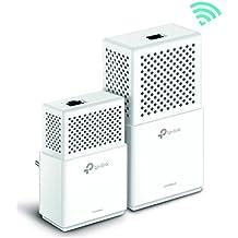 TP-Link TL-WPA7510 KIT AV1000 Gigabit Powerline AC750 Wi-Fi Kit Wireless, Dual Band, 2 Gigabit Port, Plug and Play, HomePlug AV2, Pulsante Wi-Fi Clone, Tasto LED On/Off, Bianco