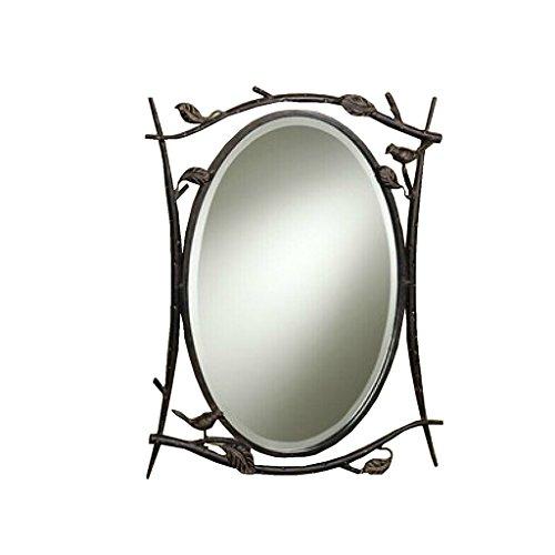 LEI ZE JUN UK- Spiegel-Land-Oval-Badezimmer-Bronze-Landhaus-moderner einfacher Wand-hängender Spiegel Wandspiegel