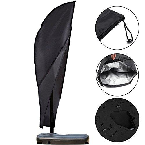SONSAN Jardin extérieur 9-3,4 m Offset Parapluie et Cadre Coque Housse de Cantilever parapluies étanche