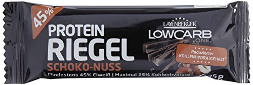 Layenberger LowCarb.one Protein-Riegel Schoko-Nuss, 1er Pack (18 x 35 g)