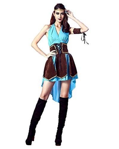Uleade Halloween Robin Hood Royal mittelalterliche Frauen Maid Fancy Dress Kostüm Party