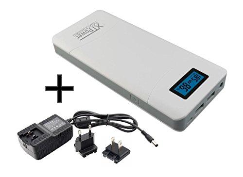 12-volt-power-pack (XTPower® XT-16000QC2 Powerbank inkl. Netzteil - moderner DC + USB QC2 Akku mit 15600mAh - 1x USB, 1x USB QC2 und DC Anschluss von 12 bis 24V 65W - für Laptop Tablet iPhone Galaxy)