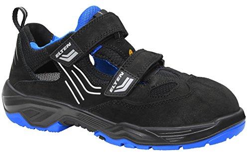 ELTEN Sicherheitsschuhe AMBITION blue Easy ESD S1, Herren, sportlich, leicht, schwarz/blau, Stahlkappe, Klettverschluss